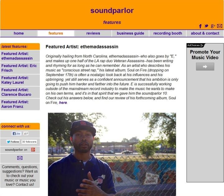SoulOnFire-SoundParlorInterview