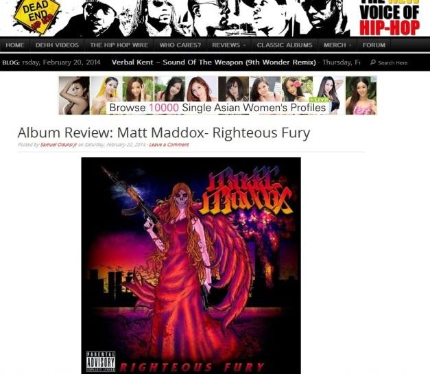 RighteousFury-DeadEndHipHop