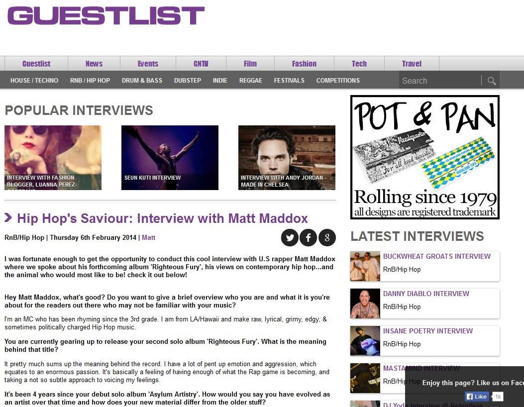 RighteousFury-GuestlistInterview