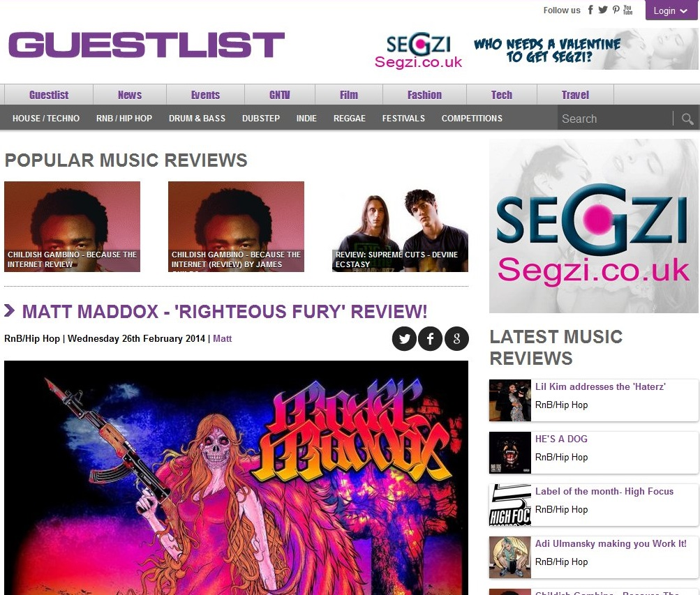 RighteousFury-GuestlistReview